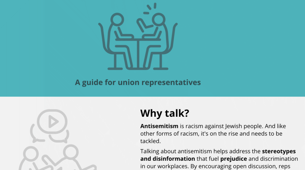 Opening to e-learning on antisemitism.